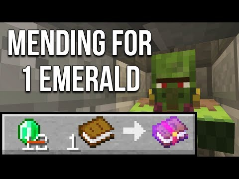 minecraft-1.14-one-emerald-mending-books-(minecraft-tutorial)