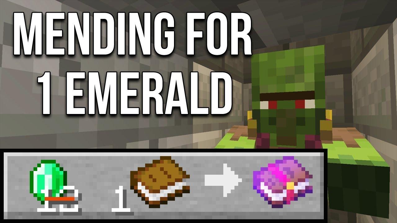 Minecraft 114 One Emerald Mending Books Minecraft Tutorial