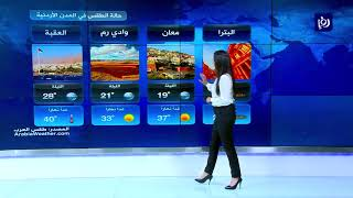 النشرة الجوية الأردنية من رؤيا 14-7-2019 | Jordan Weather