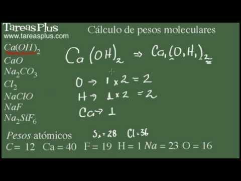 Cálculo Del Peso Molecular. Parte 1 De 3