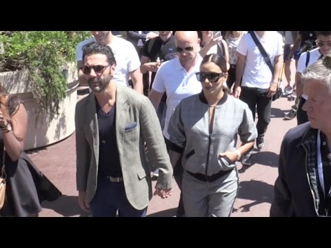 Eva Longoria and Her Husband walk hand by hand on the croisette in Cannes