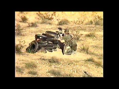 1996 NPPL, Las Vegas. MARINE TEAM vs Nemesis 2,  (old school paintball), desert paintball, 10 man