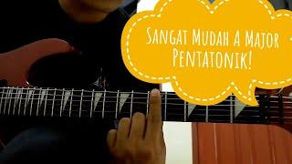 Belajar melodi gitar (A Major Pentatonic)