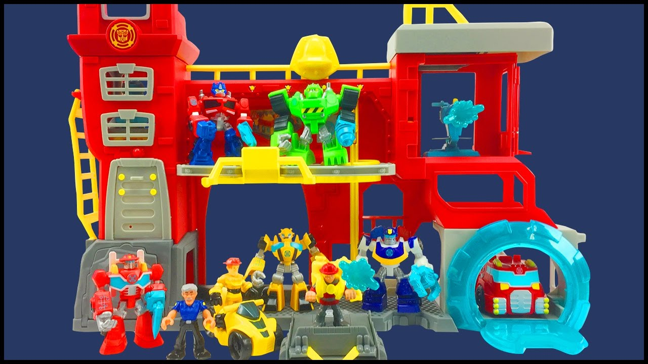 kids Playskool Toys Heroes Transformers Rescue Bots Griffin Rock Rescue Team