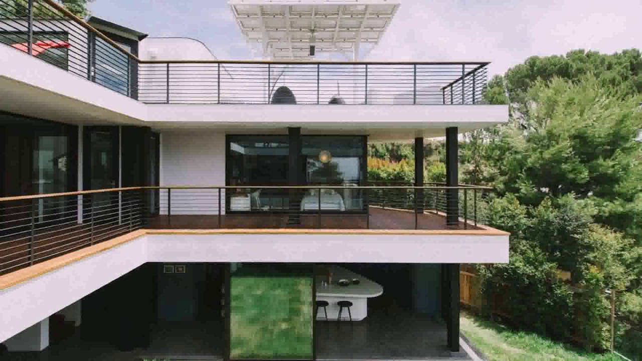 Modern steel balcony railings
