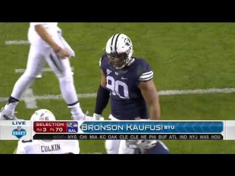 2016 NFL Draft Rd 3 Pk 70 | Baltimore Ravens Select DE Bronson Kaufusi