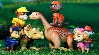 PATRULLA CANINA y los DINOSAURIOS! JURASSIC WORLD PAW PATROL toys PUPS & DINOS juguetes toys