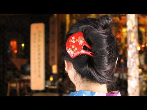 Makie Hirauchi Kanzashi (Vermilion) ~Japanese lacquer work~