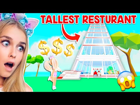 SPENDING ALL My ROBUX On The TALLEST RESTURANT In The GAME In My Resturant! (Roblox)