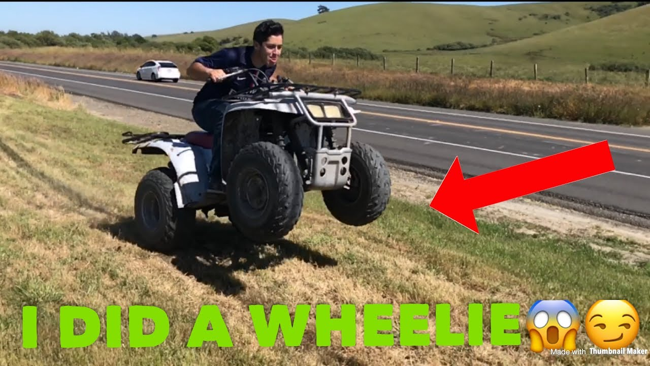 How To Pop A Wheelie On An Atv Yamaha Timberwolf 250