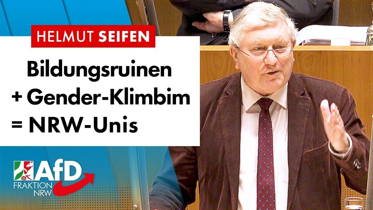 NRWs Unis sind Bildungsruinen mit Gender-Klimbim! – Helmut Seifen (AfD)