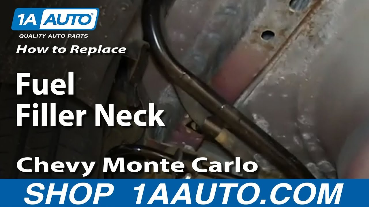 How To Install Replace Rusted Fuel Filler Neck 2000 07 Chevy Monte 2007 Buick Lacrosse Wiring Diagram Carlo