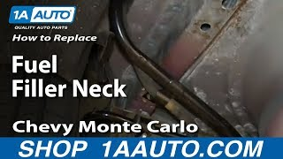 How To Install Replace Rusted Fuel Filler Neck 2000-07 Chevy Monte Carlo
