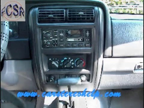 Jeep Cherokee Sport Stereo Removal Youtube