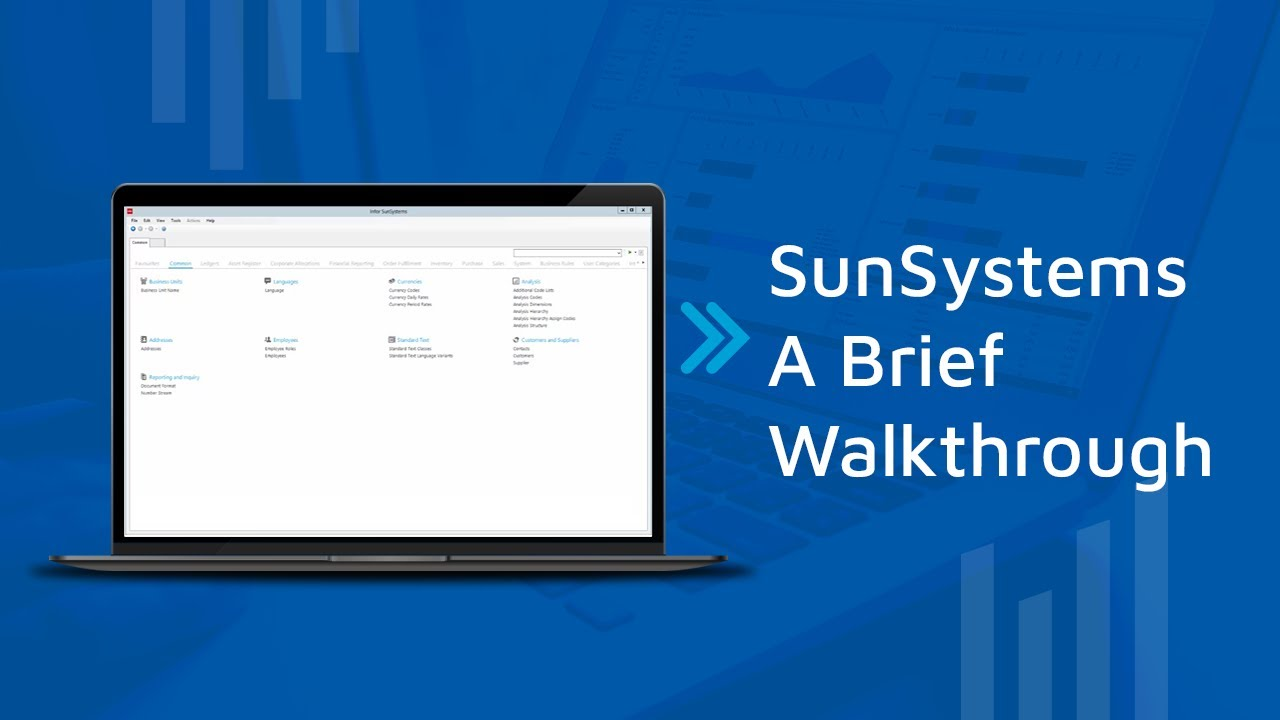 Sun Systems Software A Brief Walkthrough Youtube