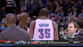 Kevin Durant Game Winning Buzzer Beater vs Mavericks HD