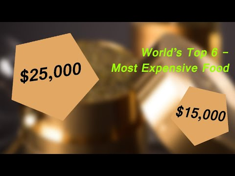 Aaron - World's 6 Most Expensive Foods