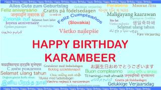 Karambeer   Languages Idiomas - Happy Birthday