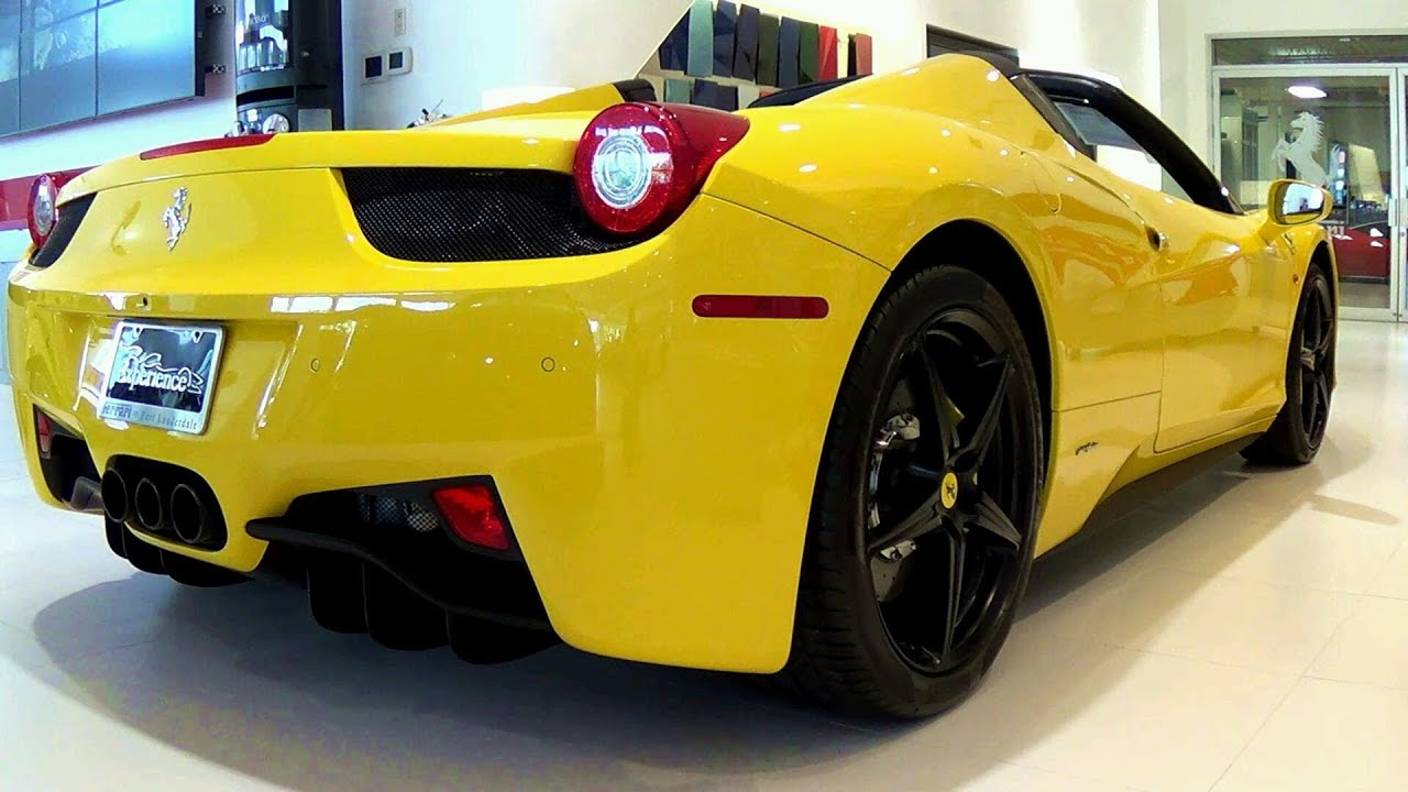 ferrari 458 spider yellow youtube - Ferrari 2014 Yellow