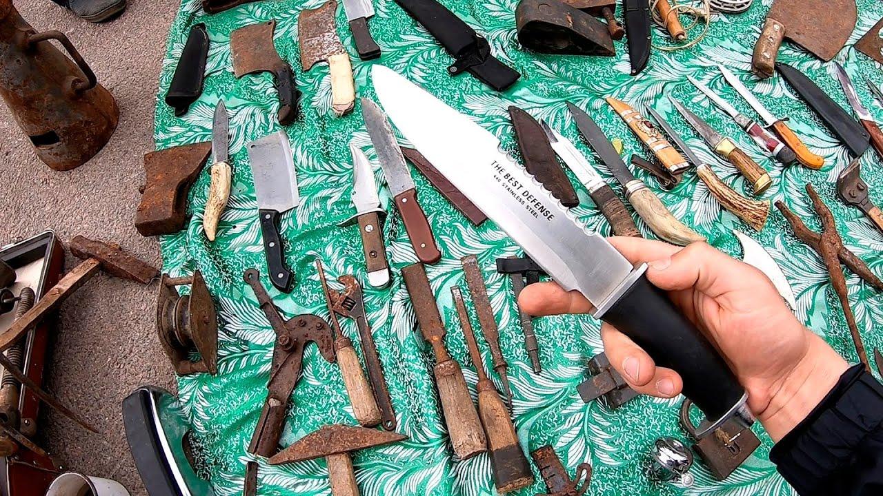 Самодельные ножи и заводские на Барахолке