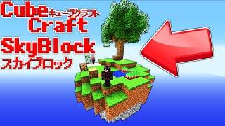 【Minecraft】新ゲーム!?キューブクラフトにスカイブロックが来たww