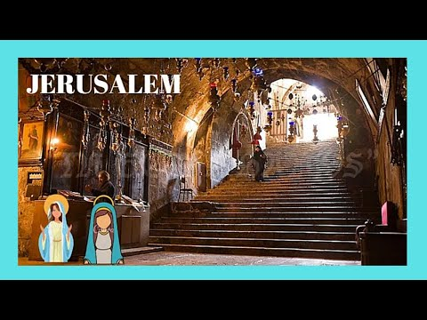 JERUSALEM, inside the tomb of VIRGIN MARY (complete tour)