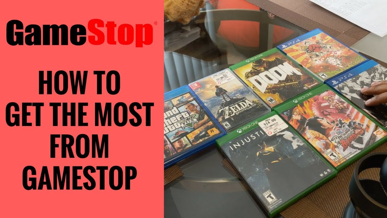 How To Trade Games At Gamestop Get More Money Youtube