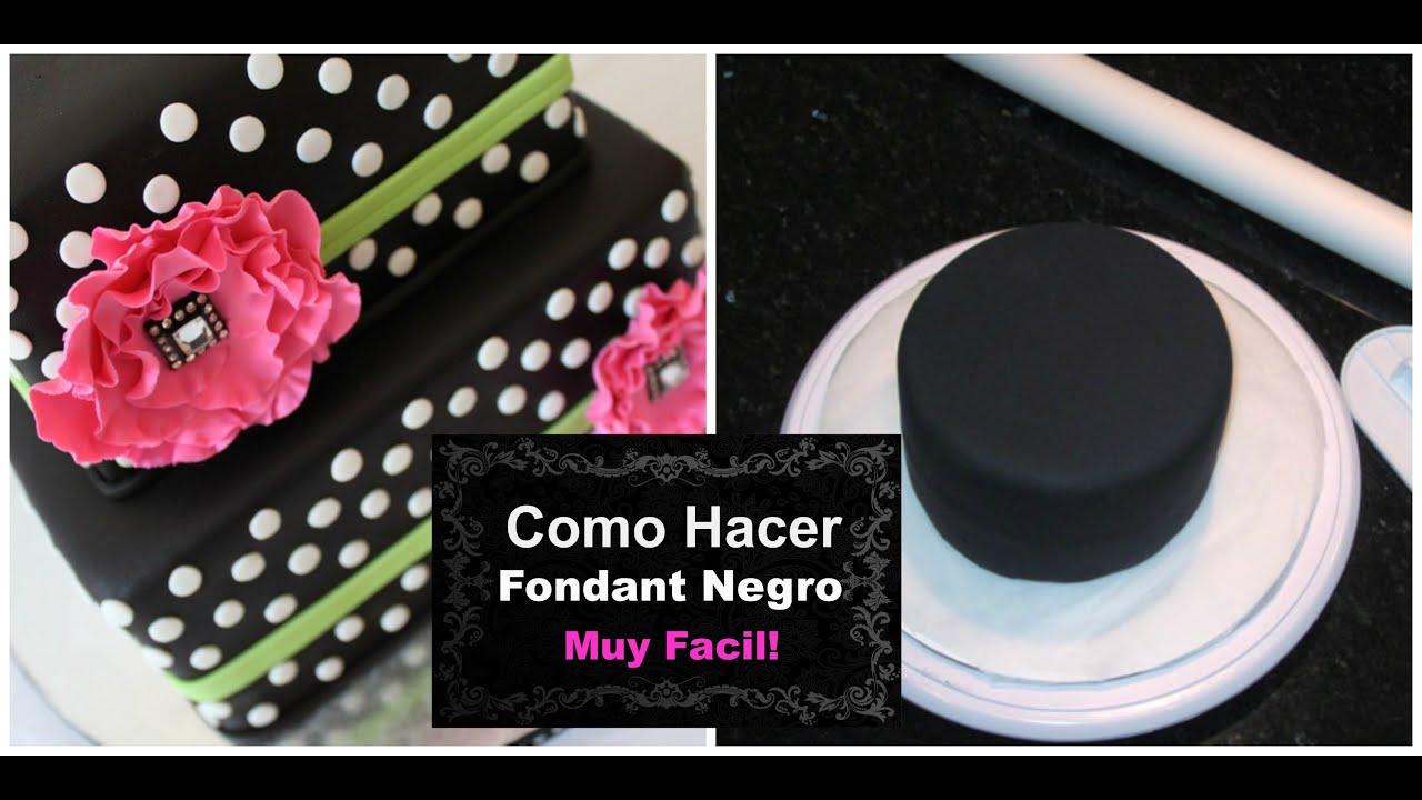 C mo hacer fondant negro con vista profesional f cil for Como decorar una torta facil y rapido