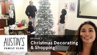 Christmas Decorating & Shopping | Austin Vlog | HiHo Kids
