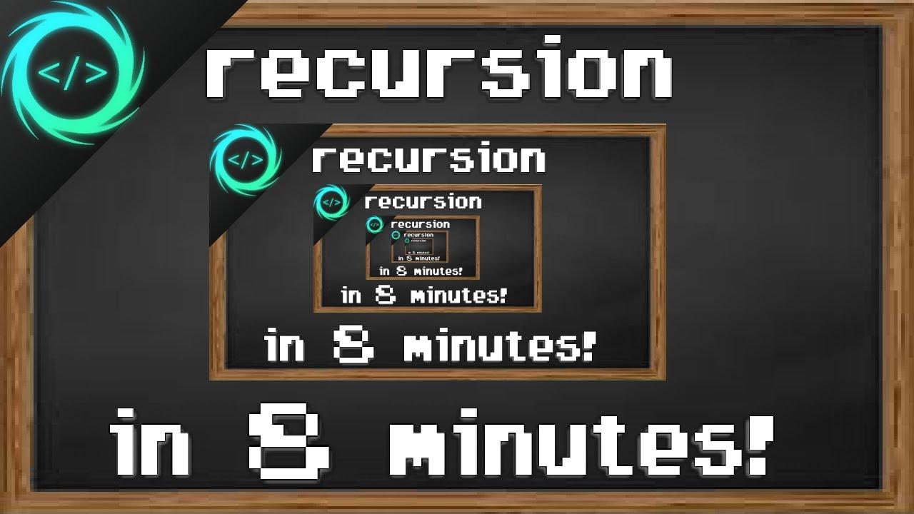 Recursion Tutorial Example Explained