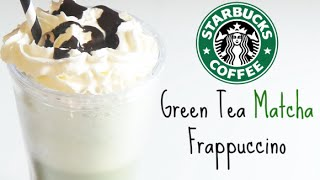 Recipe | Starbucks Green Tea Matcha Frappe | Healthylifestyle