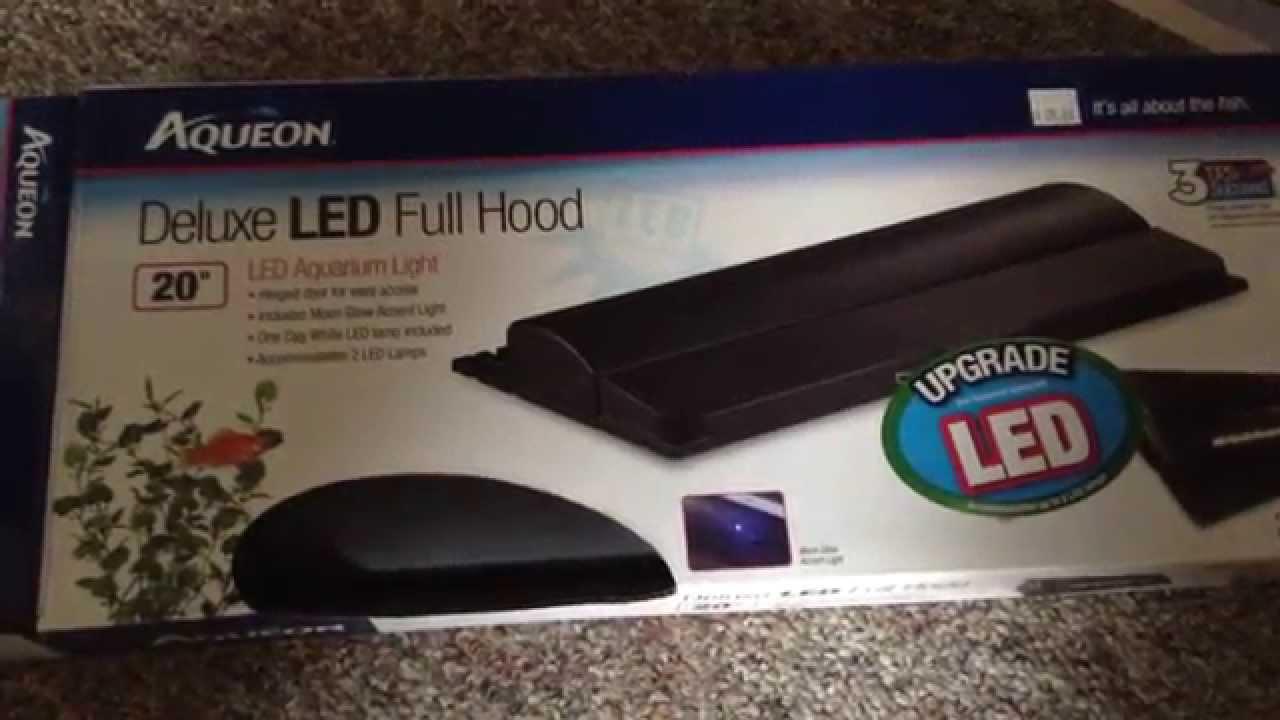 Aqueon led lights deluxe hood unboxing - YouTube