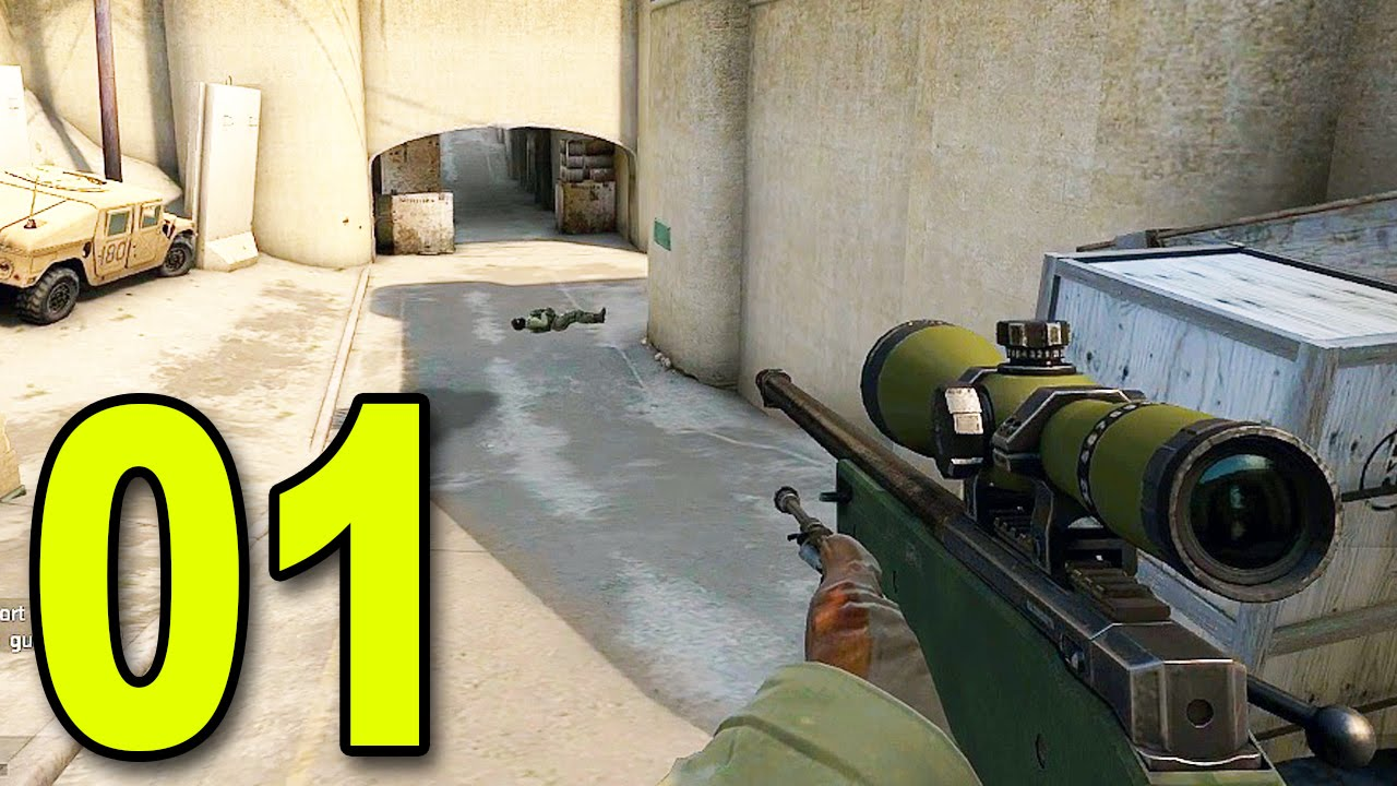 CS:GO - Part 1 - First Game (CounterStrike: Global Offensive Gameplay)