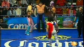 AAA - Gran Apache, Mari Apache, Fabi Apache vs. Billy Boy, Oriental, Cinthia Moreno, 2009/02/07