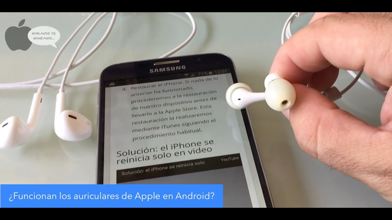 aab869dd3ec Funcionan los auriculares de Apple en Android? - YouTube