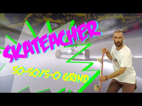 SKATEACHER 1 - 50-50 and 5-0 grinds