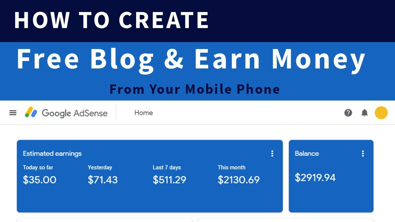 create free mobile website and earn money