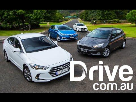 Hyundai Elantra V Mazda3 V Toyota Corolla V Ford Focus | Drive.com.au