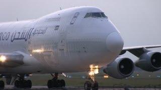 Boeing 747-200SF Saudi Arabian Airlines landet auf Hannover Airport