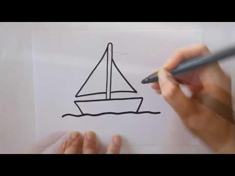 Cómo dibujar un Barco de Vela Dibuja Conmigo Dibujos de Mar - YouTube