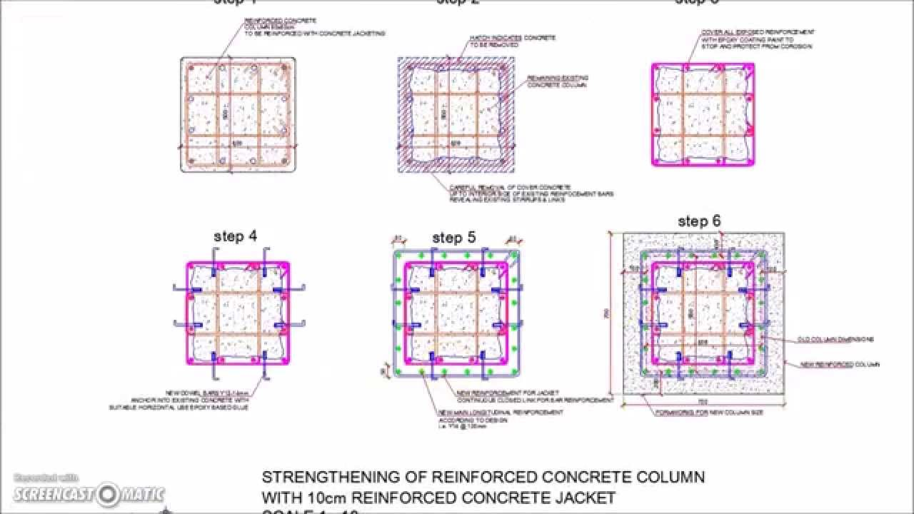 Reinforced Concrete Column Jacketing Detail Youtube