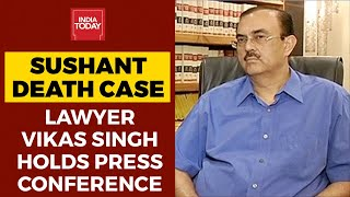 Sushant Singh Rajput's Family Lawyer Vikas Singh Holds Press Conference, Says Actor's Family In Pain