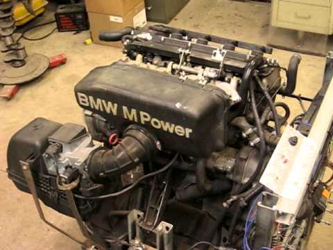 Bmw E30 S14 Engine Running On Stand Youtube