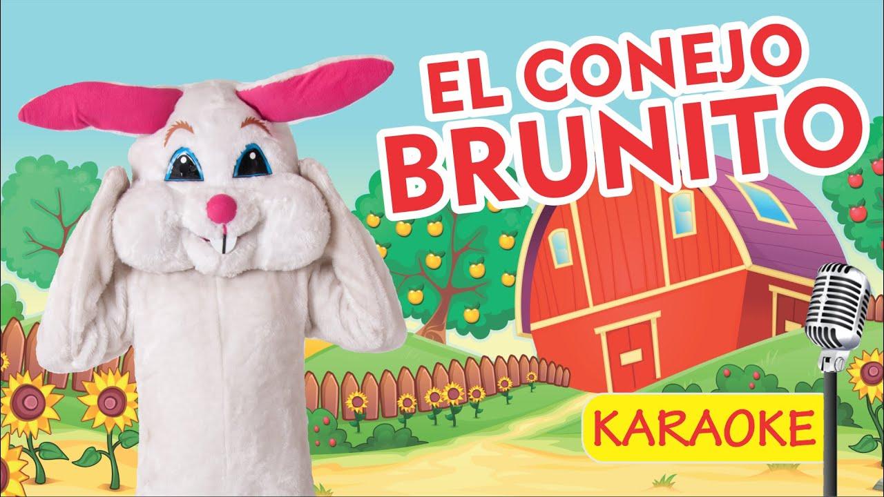 EL CONEJO BRUNITO - KARAOKE (Video Oficial) - Payaso Chispita