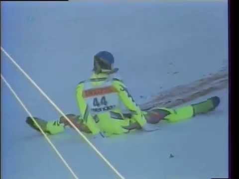 GRAPHIC! Fatal Ski Crash of Gernot Reinstadler
