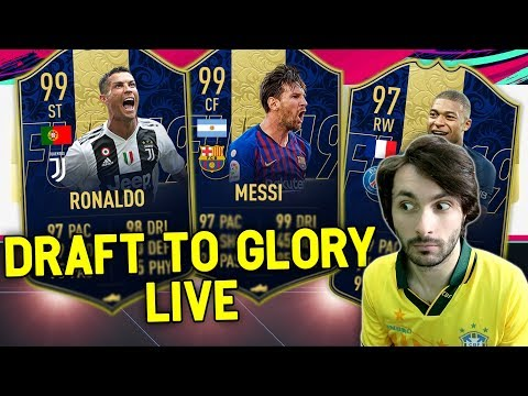 TEAM OF THE YEAR! RONALDO 99 - MESSI 99 - MBAPPE 97! Draft To Glory #4 FIFA 19