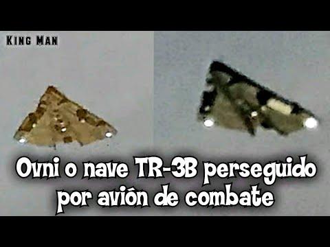 Ovni triangular o nave TR-3B perseguida por fuerza aérea de Israel