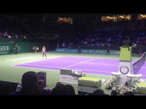 Serena Williams screaming COME ON WTA Championship Istanbul 2013