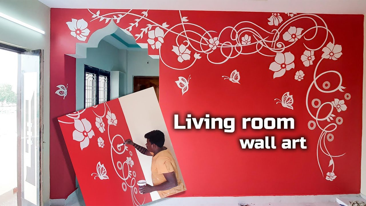 Wall Art Painting Ideas For Living Room Youtube