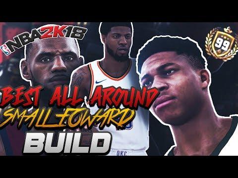 NBA 2K18: BEST ALL-AROUND SMALL FORWARD BUILD! Speedboosting & Contact Dunks